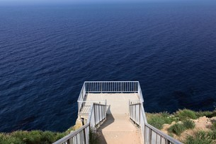 赤岩展望台 天売島の写真素材 [FYI03009723]