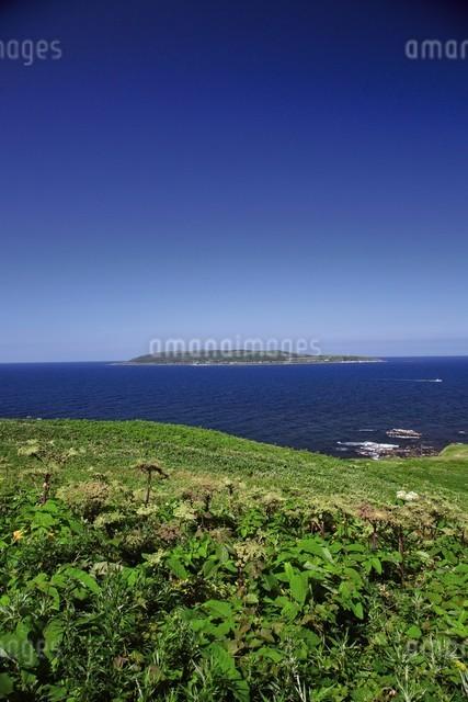 焼尻島から見える天売島の写真素材 [FYI03009767]