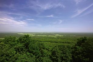 夏の釧路湿原 サテライト展望台からの眺めの写真素材 [FYI03009803]