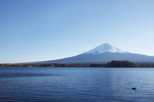 河口湖から望む富士山の写真素材 [FYI03010156]
