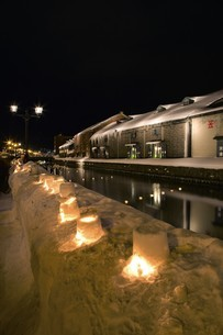小樽雪あかりの路の写真素材 [FYI03010198]