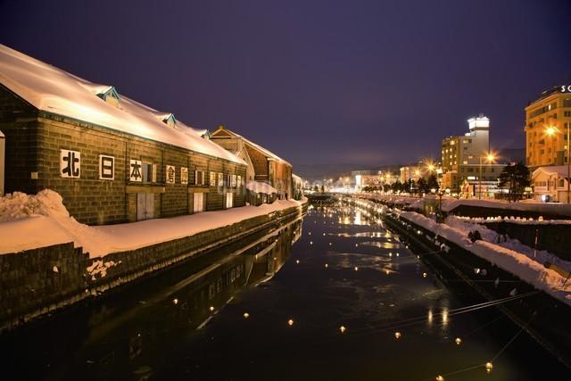 小樽雪あかりの路の写真素材 [FYI03010201]