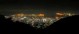 神戸市街の夜景,六甲山の写真素材 [FYI03010545]