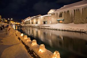 小樽雪あかりの路の写真素材 [FYI03011491]