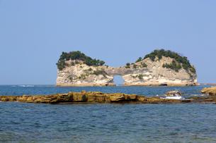 円月島の写真素材 [FYI03011548]
