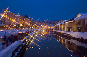 小樽雪あかりの路の写真素材 [FYI03011570]