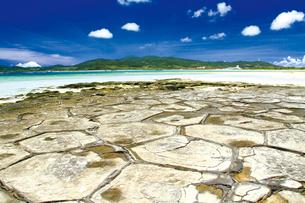 奥武島の畳石の写真素材 [FYI03011626]