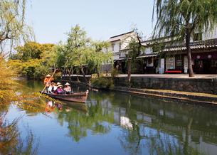 倉敷美観地区と天領舟の写真素材 [FYI03011749]