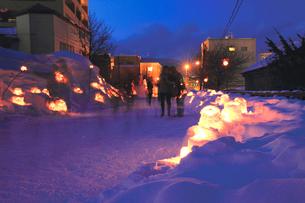 雪あかりの路の写真素材 [FYI03011780]