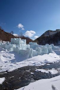 層雲峡氷瀑まつりの写真素材 [FYI03012023]