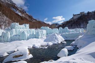 層雲峡氷瀑まつりの写真素材 [FYI03012024]