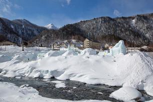 層雲峡氷瀑まつりの写真素材 [FYI03012026]