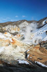 冬の登別地獄谷の写真素材 [FYI03012238]