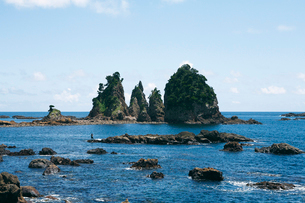 大瀬海岸の奇岩の写真素材 [FYI03012643]