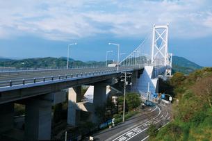 しまなみ海道を構成する因島大橋の写真素材 [FYI03012674]
