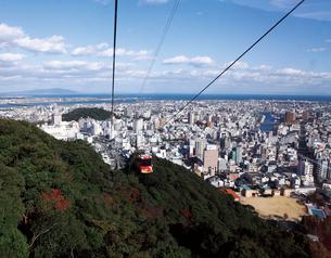 眉山ロープウェイより眺める徳島市の街並みの写真素材 [FYI03012681]