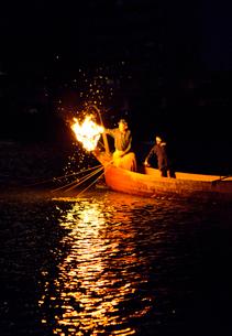 長良川鵜飼の風景の写真素材 [FYI03013661]
