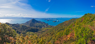亀老山展望公園より来島海峡大橋を望むの写真素材 [FYI03014057]