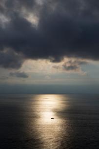 夕景の竜飛崎からの眺望の写真素材 [FYI03014308]