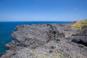 袰月海岸に面した鋳釜崎の風景の写真素材 [FYI03014321]