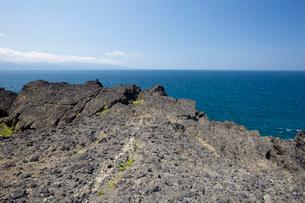 袰月海岸に面した鋳釜崎の風景の写真素材 [FYI03014423]