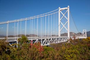 しまなみ海道を構成する因島大橋の写真素材 [FYI03014643]