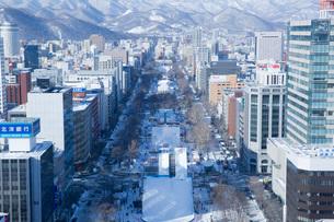 テレビ塔より望むさっぽろ雪まつり大通り会場の写真素材 [FYI03014913]