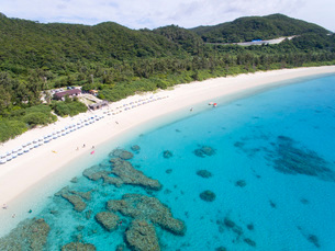 座間味島の古座間味ビーチの写真素材 [FYI03015120]