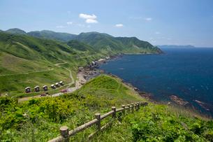 津軽海峡を臨む竜飛崎の写真素材 [FYI03015772]