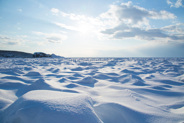 オホーツク海を埋め尽くす流氷の写真素材 [FYI03015801]