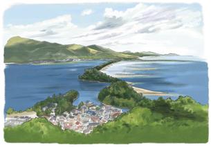 天橋立ビューランドからの眺めのイラスト素材 [FYI03017548]