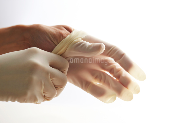 ゴム手袋の写真素材 [FYI03018015]