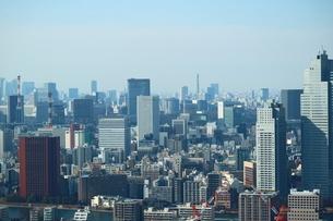 豊洲の高層タワーラウンジから見た日比谷方面の風景の写真素材 [FYI03018154]