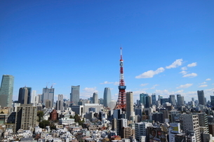 麻布十番から見える東京タワー方面の眺望の写真素材 [FYI03018176]