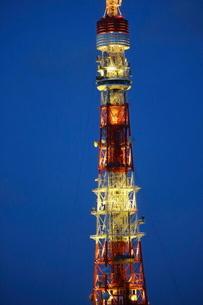 麻布十番から見える東京タワー方面の眺望の写真素材 [FYI03018188]