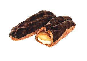 チョコエクレアのイラスト素材 [FYI03018750]