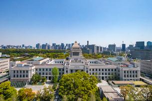 衆議院第二議員会館から見下ろした国会議事堂の写真素材 [FYI03018756]