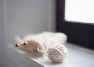 編みかけのマフラーの写真素材 [FYI03028923]
