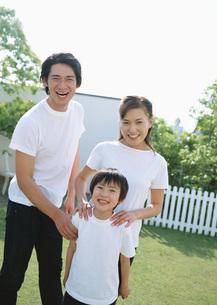 笑顔の親子の写真素材 [FYI03029493]