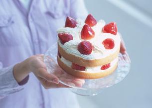 イチゴショートケーキの写真素材 [FYI03029520]