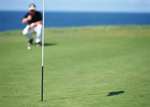 ゴルフをする男性の写真素材 [FYI03029941]