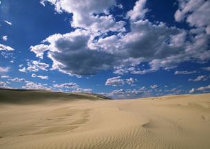 砂漠と雲の写真素材 [FYI03030568]
