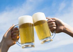 ビールで乾杯の写真素材 [FYI03031141]