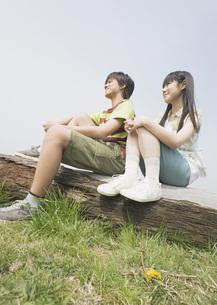 男の子と女の子の写真素材 [FYI03031809]