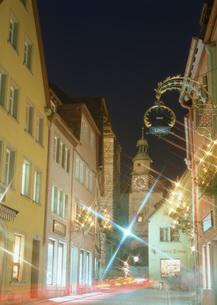 ロマンチック街道のローテンブルクの街角の写真素材 [FYI03032286]