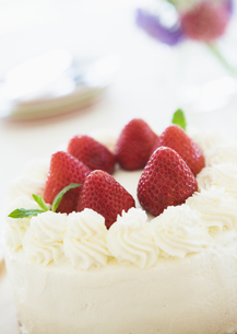 イチゴのショートケーキの写真素材 [FYI03034339]