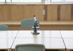 教室の顕微鏡の写真素材 [FYI03036592]