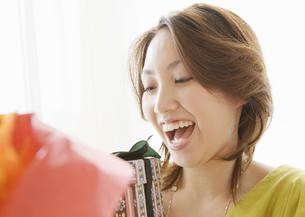 笑顔の女性の写真素材 [FYI03038043]