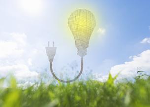 LED電球のエコロジーイメージの写真素材 [FYI03041648]