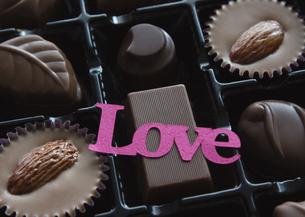 チョコレートの詰め合わせの写真素材 [FYI03042727]